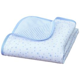 Clair De Lune Stars & Stripes Pram Blanket - Blue.