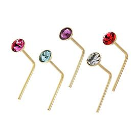 State of Mine 9ct Yellow Gold Crystal Nose Studs - Set of 5