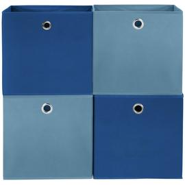 Argos Home Set of 4 Squares Plus Boxes - Dark & Light Blue