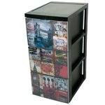 more details on HOME London 3 Drawer Storage Tower.