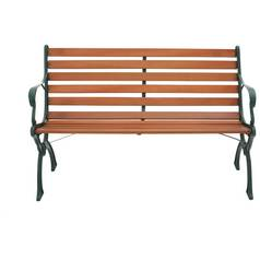 argos home hardwood 12 slat chelsea bench - Garden Bench