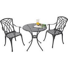 Collection Porto 2 Seater Cast Aluminium Bistro Set