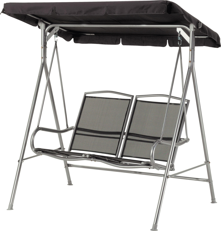 malibu 2 seater garden swing chair   black hammocks and swing seats   argos  rh   argos co uk
