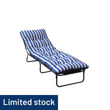 HOME Multi-Position Sun Lounger with Cushion - Green