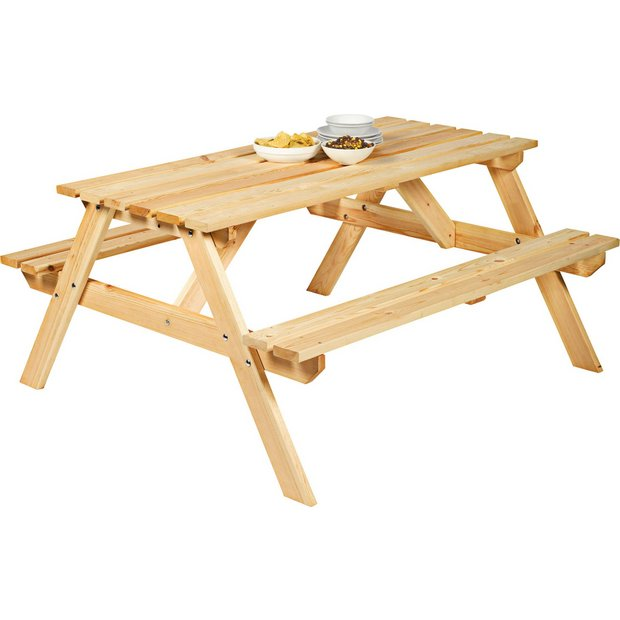 Buy Natural Pine Picnic Bench At Your Online Shop For Garden Be