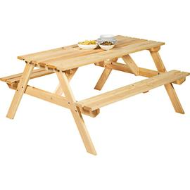 Argos Home Wooden 4 Seater Picnic Bench