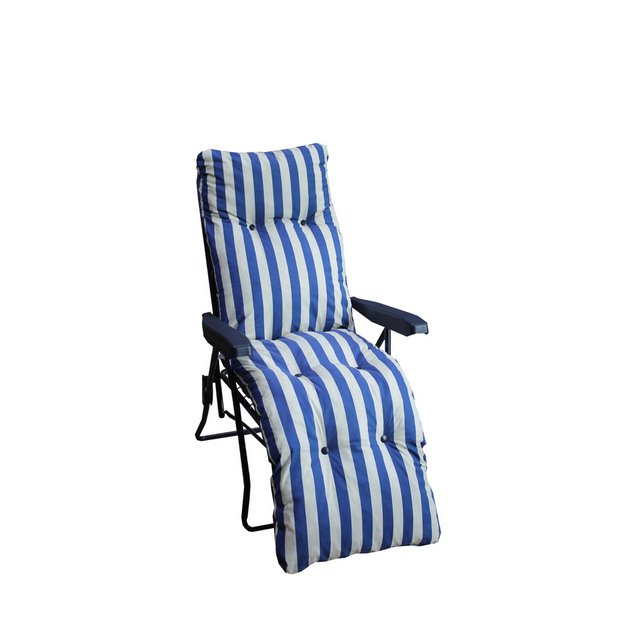 Buy Striped Foldable Multi Position Sun Lounger with Cushion at Argos co uk    Your Online Shop for Garden chairs and sun loungers  Garden furniture. Buy Striped Foldable Multi Position Sun Lounger with Cushion at