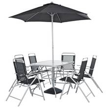 HOME Pacific 6 Seater Metal Patio Set