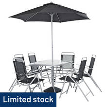 Argos Home Pacific 6 Seater Metal Patio Set