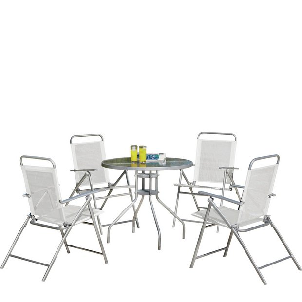 simple value 4 seater patio furniture set