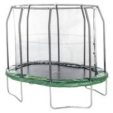 Jumpking 7ft x 10ft Premium Oval Trampoline with Enclosure
