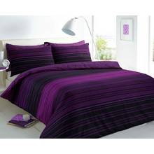 Pieridae Purple Textured Striped Bedding Set - Kingsize