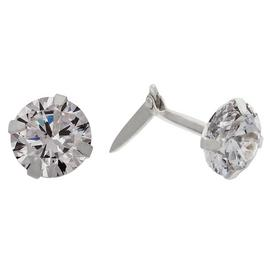 Andralok Sterling Silver Cubic Zirconia 5mm Stud Earrings