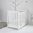 more details on OBaby White Stamford Mini Cot Bed