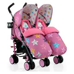 Cosatto Supa Dupa Double Stroller - Happy Stars