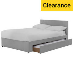 Argos Home Keating 1 Drawer Grey Bed Frame - Double