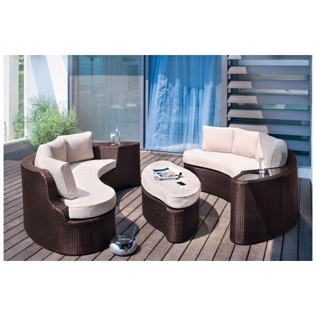 Buy Collection Rattan Effect 6 Seater Patio Sofa Set 2