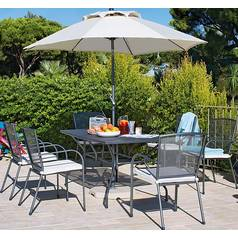 Argos Home Miami 6 Seater Metal Patio Set