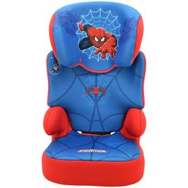 Team Tex Marvel Spider-Man Group 2/3 Booster Car Seat - Blue