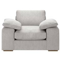 Argos Home Phoebe Fabric Chair - Light Grey