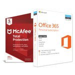 more details on Microsoft Office 365 Personal and McAfee TP - 5 Devices.
