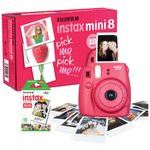 more details on Fujifilm Instax Mini 8 Camera with 10 Shots - Raspberry.