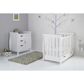 Obaby Stamford Mini Sleigh 2 Piece Room Set - White
