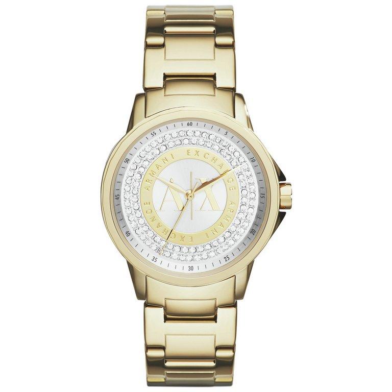 buy armani exchange ax4321 gold tone bracelet