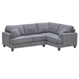 Argos Home Hampstead Right Corner Fabric Sofa - Pewter