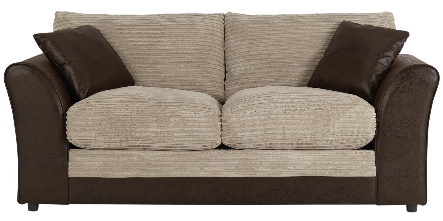 home harley 2 seater fabric sofa bed   mink sofa beds chair beds and futons   argos   page 3  rh   argos co uk