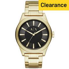 1c4db59451e Armani Exchange Men s Gold Tone Steel Bracelet Watch