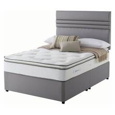 Sealy 1400 Pocket Memory Pillowtop Divan Bed - Double