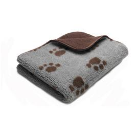 Petface Fleece Sherpa Print Chocolate Pet Comforter
