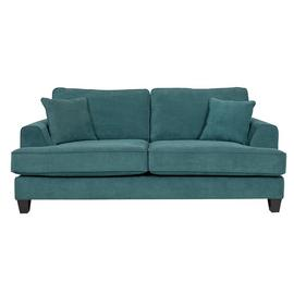 Argos Home Hampstead 3 Seater Fabric Sofa - Ocean Blue