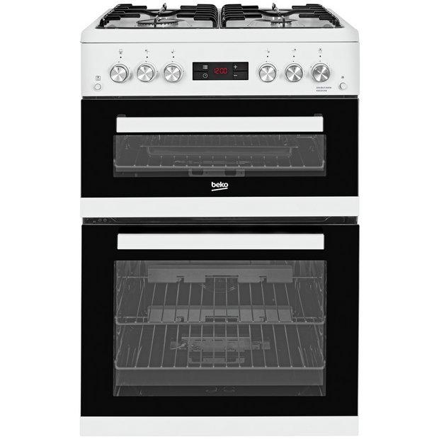 buy beko kdg653w double gas cooker white at. Black Bedroom Furniture Sets. Home Design Ideas