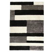 Collection Noble Block Shaggy Rug - 200x290cm - Grey