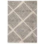 more details on Collection Noble Diamond Shaggy Rug - 200x290cm - Natural.