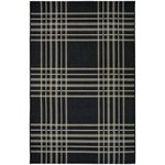 County Check Rug - 80x150cm - Black