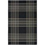 County Check Rug - 160x230cm - Black