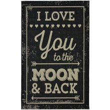 County Moon Rug - 120x170cm - Black