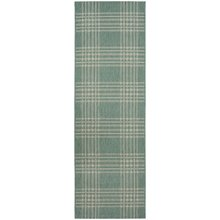 County Check Rug - 160x230cm - Duck Egg