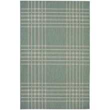 County Check Rug - 120x170cm - Duck Egg