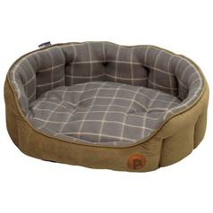 Petface Check Dog Bed - Large