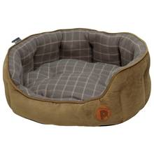 Petface Grey Check Medium Pet Bed