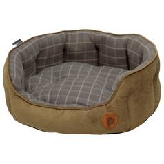Petface Grey Check Pet Bed - Medium