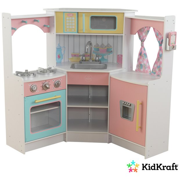 Buy deluxe corner play kitchen at your for Kitchen set argos