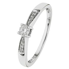 Revere 18ct White Gold 0.10ct Diamond Solitaire Ring