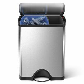 simplehuman 46 Litre Rectangular Recycle Bin