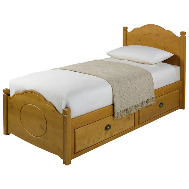 bc700c2468ef Argos Home Sherington Single 2 Drawer Bed Frame Pine