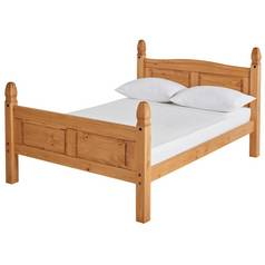 Argos Home Puerto Rico Double Bed Frame - Light Pine